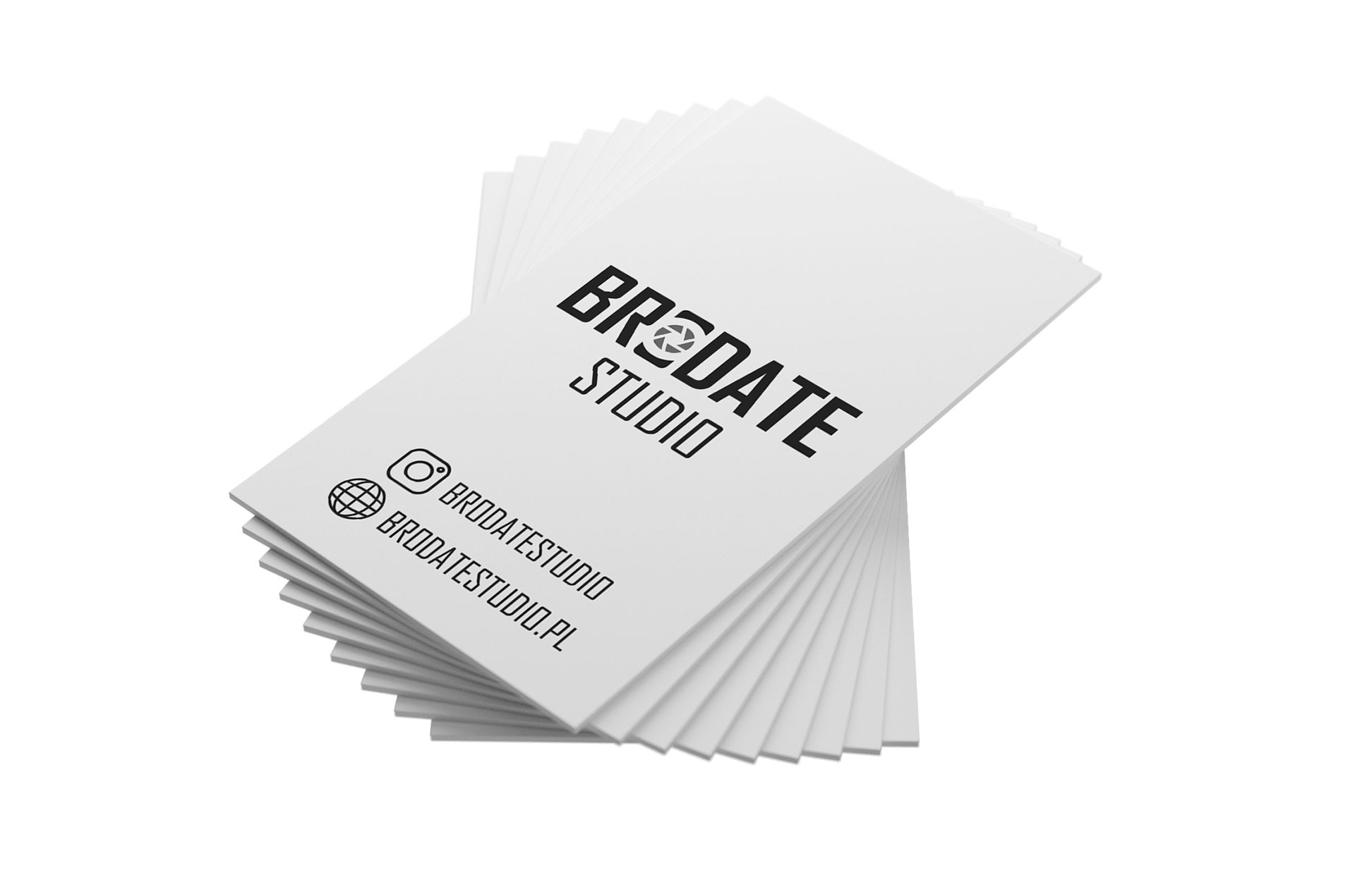 Projekt wizytówki Brodate Studio