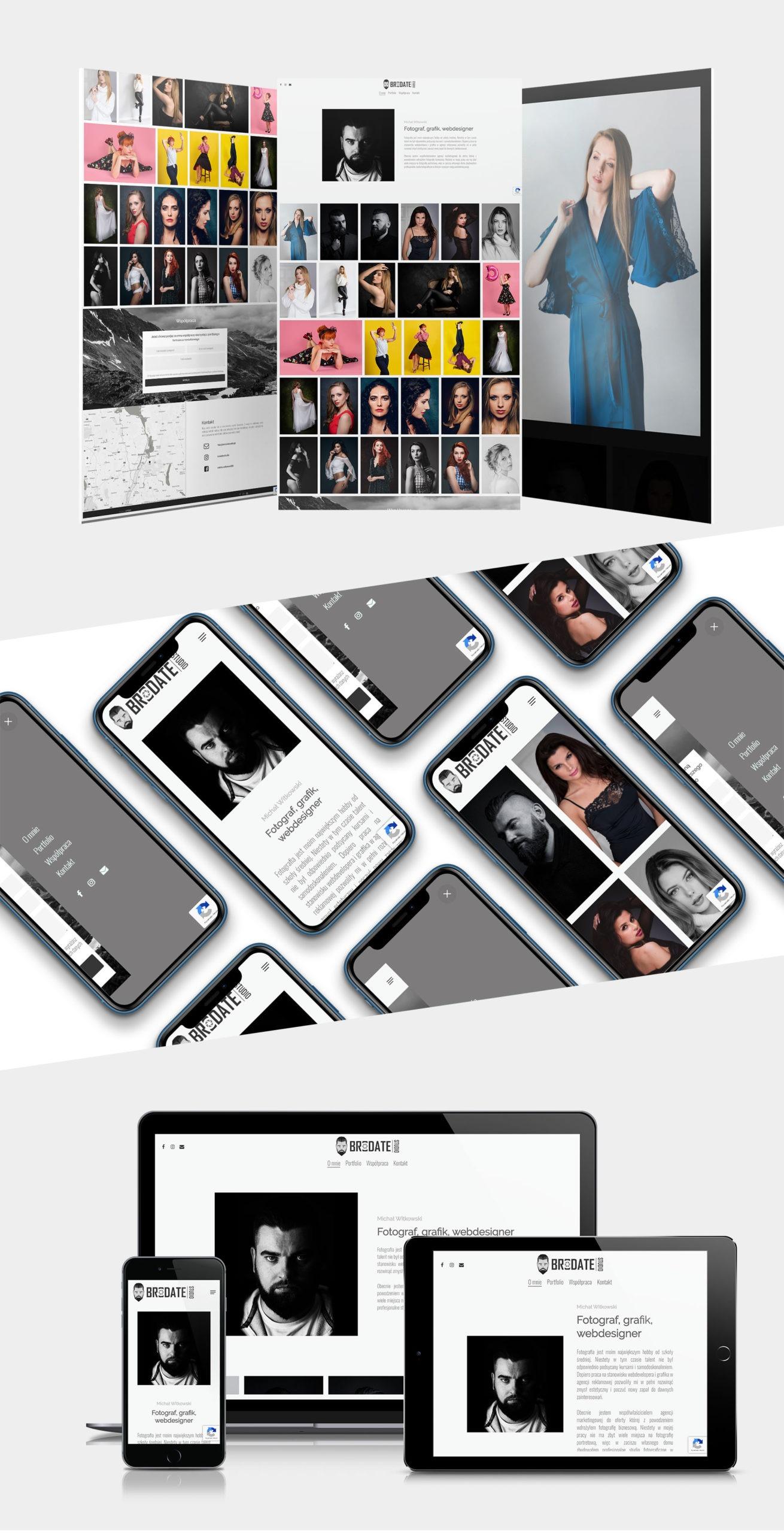 Projekt strony internetowej Brodate Studio