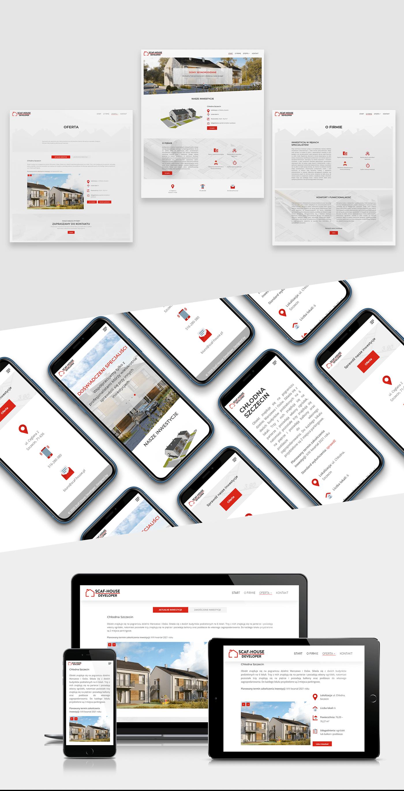Projekt strony internetowej dla marki Scaf-House
